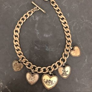 Juicy Couture Gold Heart Charm Necklace